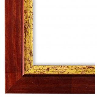 Bilderrahmen Rot Gold Holz Catanzaro 3, 9 - DIN A2 - DIN A3 - DIN A4 - DIN A5