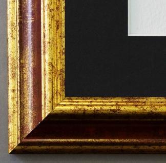 Bilderrahmen Bari in Rot Gold mit Passepartout in Schwarz 4, 2 Top Qualität
