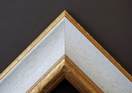 Bilderrahmen Weiß Gold Antik Barock Foto Urkunden Rahmen Holz Vintage Acta 6, 8 - Vorschau 3