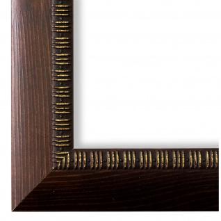 Bilderrahmen Braun Holz Turin 4, 0 - DIN A2 - DIN A3 - DIN A4 - DIN A5