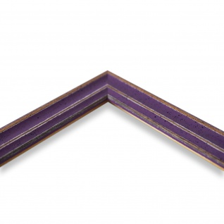 Bilderrahmen Lila Antik Shabby Holz Cosenza 2, 0 - 40x60 50x50 50x60 60x60 - Vorschau 4