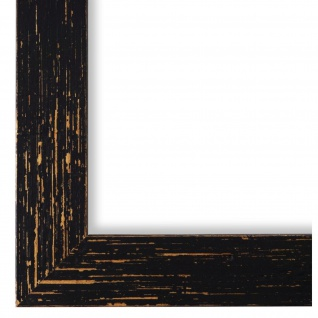 Bilderrahmen Schwarz Antik Holz Cremona 3, 0 - DIN A2 - DIN A3 - DIN A4 - DIN A5