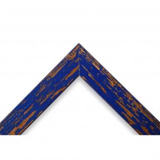 Bilderrahmen Blau Antik Vintage Holz Cremona 3, 0 - NEU alle Größen - Vorschau 3