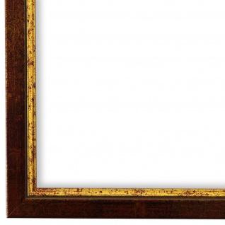 Bilderrahmen Rot Gold Vintage Holz Sanremo - DIN A2 - DIN A3 - DIN A4 - DIN A5