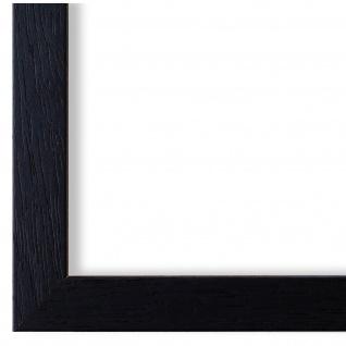 Bilderrahmen Schwarz Struktur Modern Holz Como 2, 0 - NEU alle Größen