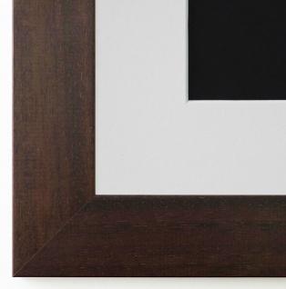 Bilderrahmen Florenz in dkl. Braun mit Passepartout in Weiss 4, 0 Top Qualität