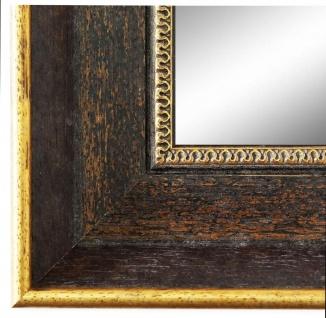 Wandspiegel Spiegel dkl. Braun Gold Vintage Retro Monza 6, 7 - NEU alle Größen