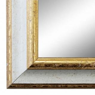 Wandspiegel Spiegel Weiss Gold Vintage Retro Holz Genua 4, 3 - NEU alle Größen