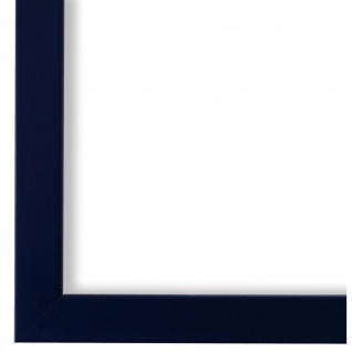 Bilderrahmen Saphir Blau Modern Retro Holz Asti 1, 7 - NEU alle Größen