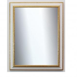 Spiegel Wandspiegel Badspiegel Flur Antik Barock Prunk Genua Weiss Gold 4, 3