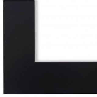 Bilderrahmen matt Schwarz Modern Holz Martina Franca 4, 5 - NEU alle Größen