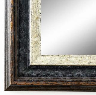 Spiegel Wandspiegel Badspiegel Flur Antik Shabby Trento Schwarz Silber 5, 4