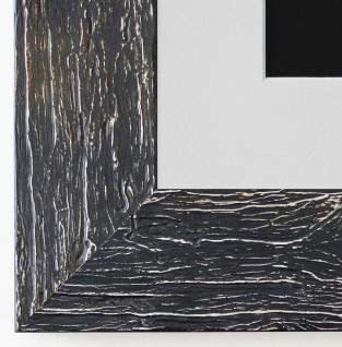 Bilderrahmen Capri in Schwarz mit Passepartout in Weiss 5, 8 - NEU alle Größen