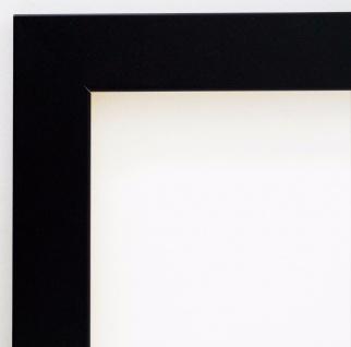 Bilderrahmen matt Schwarz Modern Rahmen Holz Leverkusen 3, 3 - alle Größen