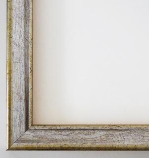 Bilderrahmen Silber Modern Antik Rahmen Holz Shabby Kiel 2, 3 - alle Größen NEU