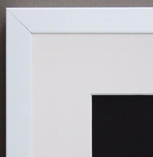 Bilderrahmen Como in Weiss Modern mit Passepartout in Weiss 2, 0 - alle Größen