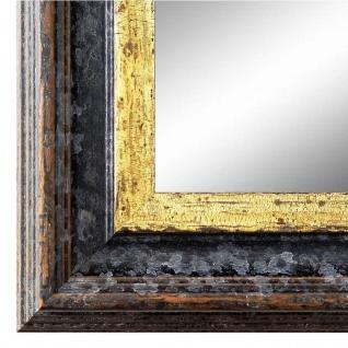 Wandspiegel Spiegel Schwarz Gold Vintage Retro Holz Trento 5, 4 - NEU alle Größen
