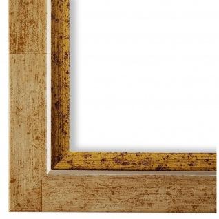 Bilderrahmen dunkel Beige Retro Vintage Holz Catanzaro 3, 9 - NEU alle Größen