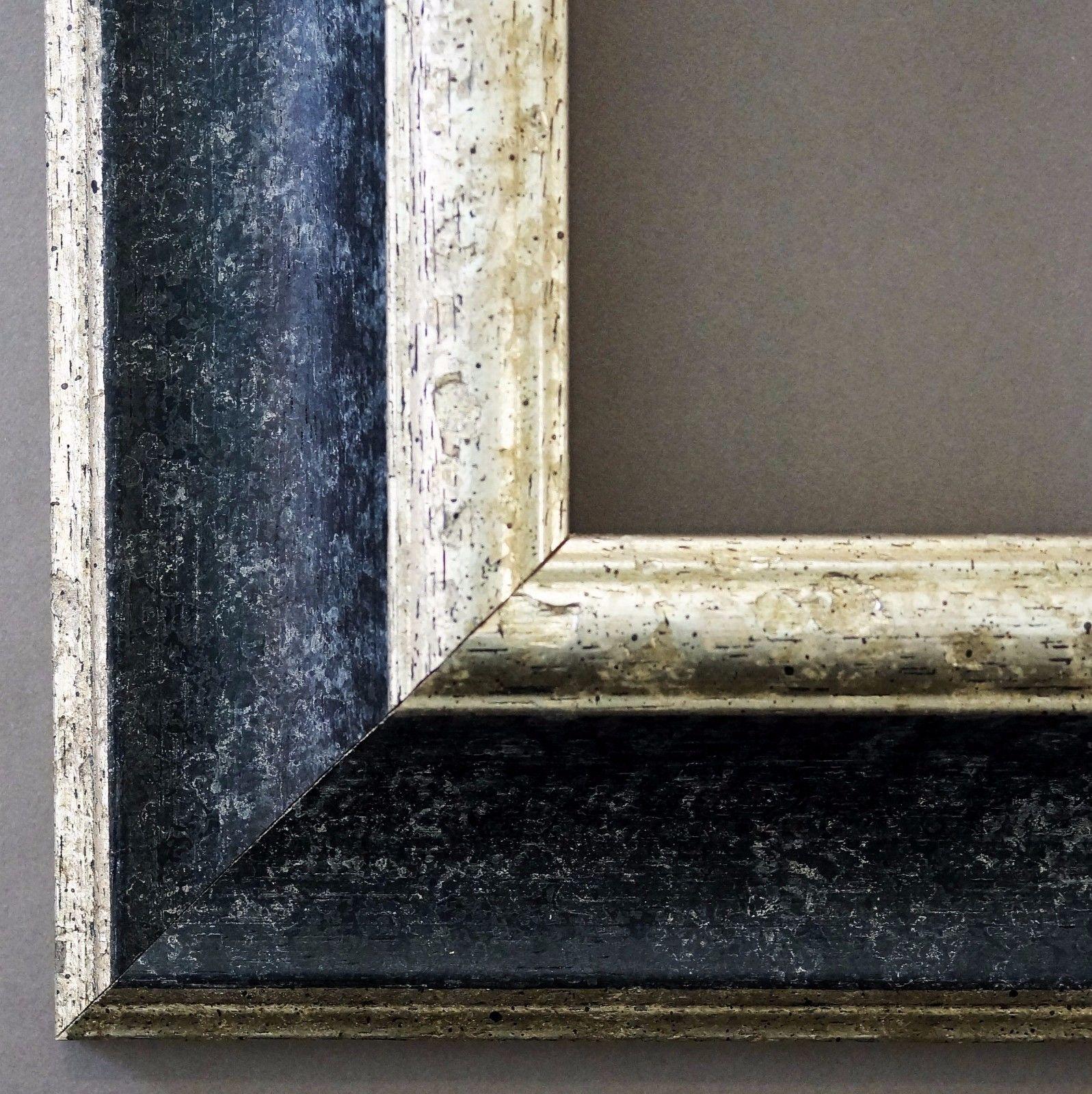 bilderrahmen schwarz silber antik barock fotorahmen urkunde rahmen holz acta 6 6 kaufen bei. Black Bedroom Furniture Sets. Home Design Ideas
