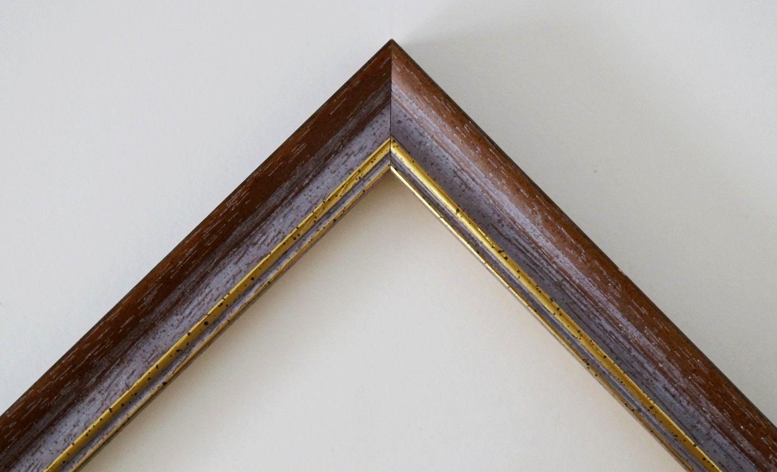 Bilderrahmen Braun Gold Braunschweig 2, 5 - 40x60 50x50 50x60 ...