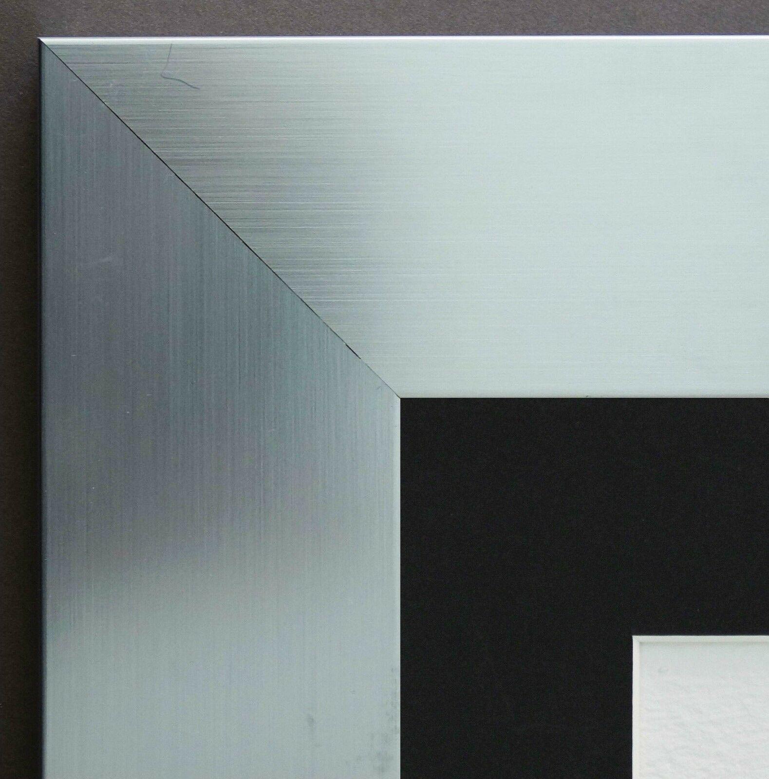 Bilderrahmen novara in silber modern passepartout in - Moderne bilderrahmen ...