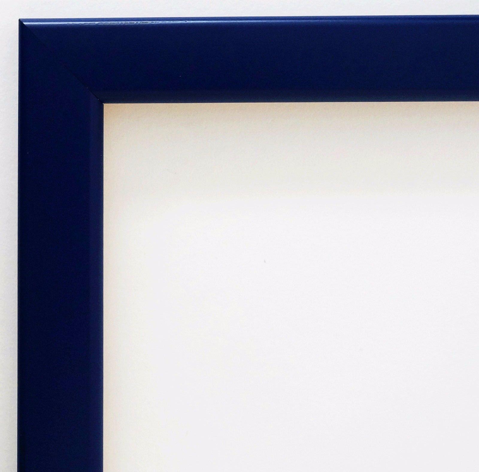 Bilderrahmen matt Blau Modern Rahmen Holz Art Hannover in 2, 4 ...