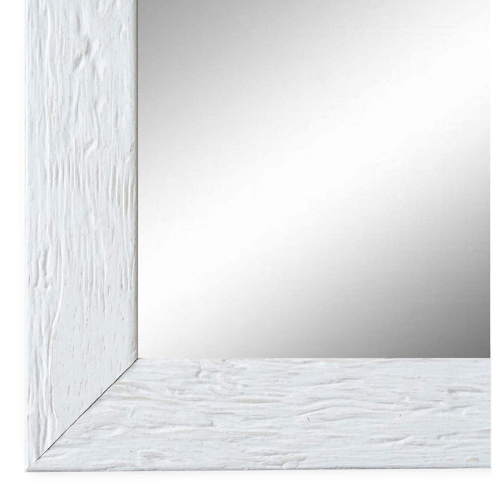 Wandspiegel Spiegel Weiss Retro Vintage Holz Rimini 3, 0 - NEU alle Größen