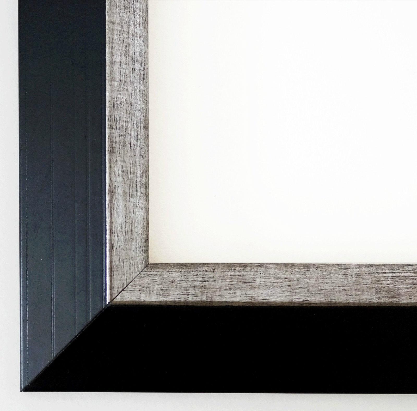 Bilderrahmen Schwarz Silber Modern Art Deco Rahmen Holz Lüneburg 4 ...
