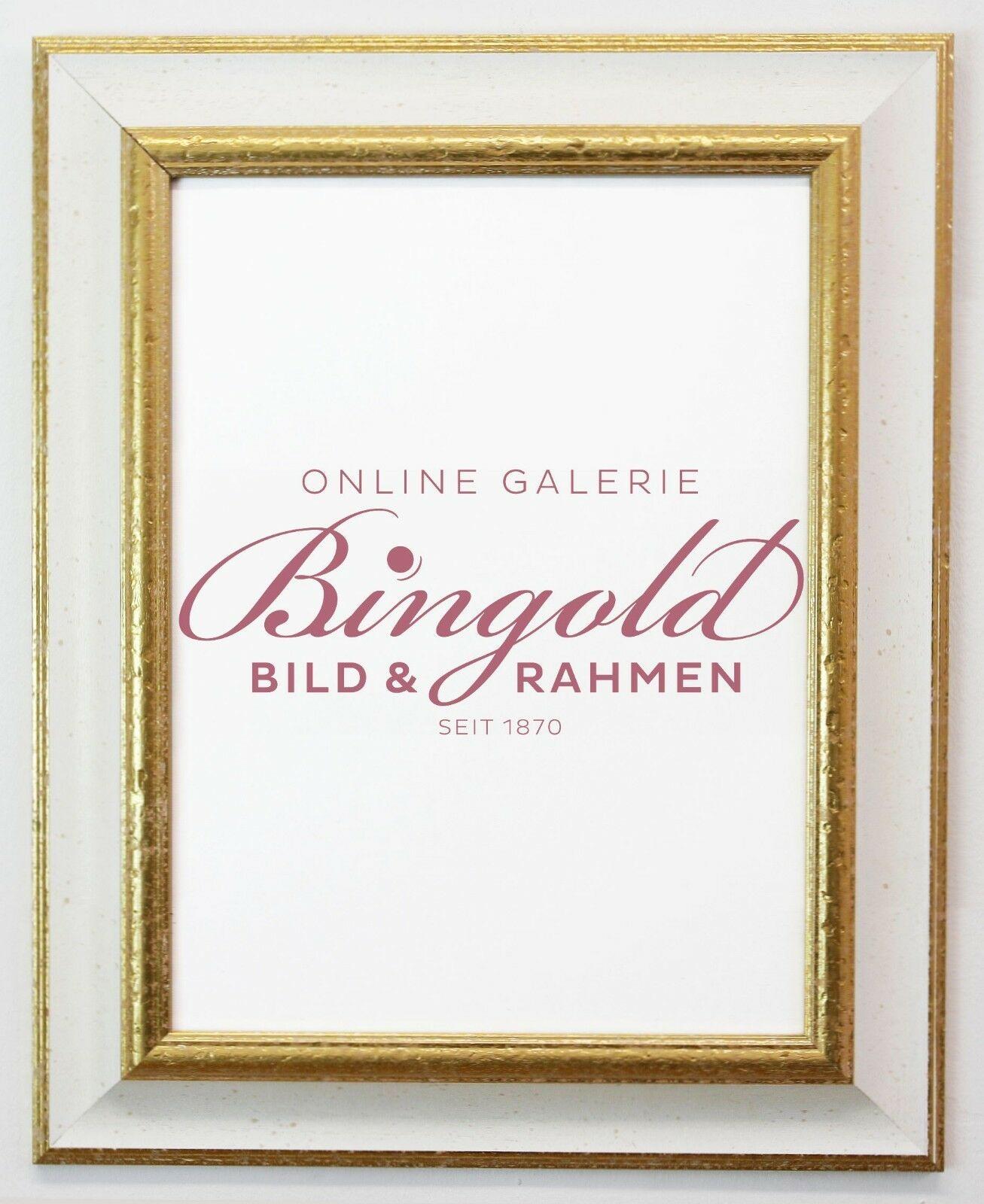 Dekoration Bilderrahmen Weiß Gold Antik Barock Foto Urkunden