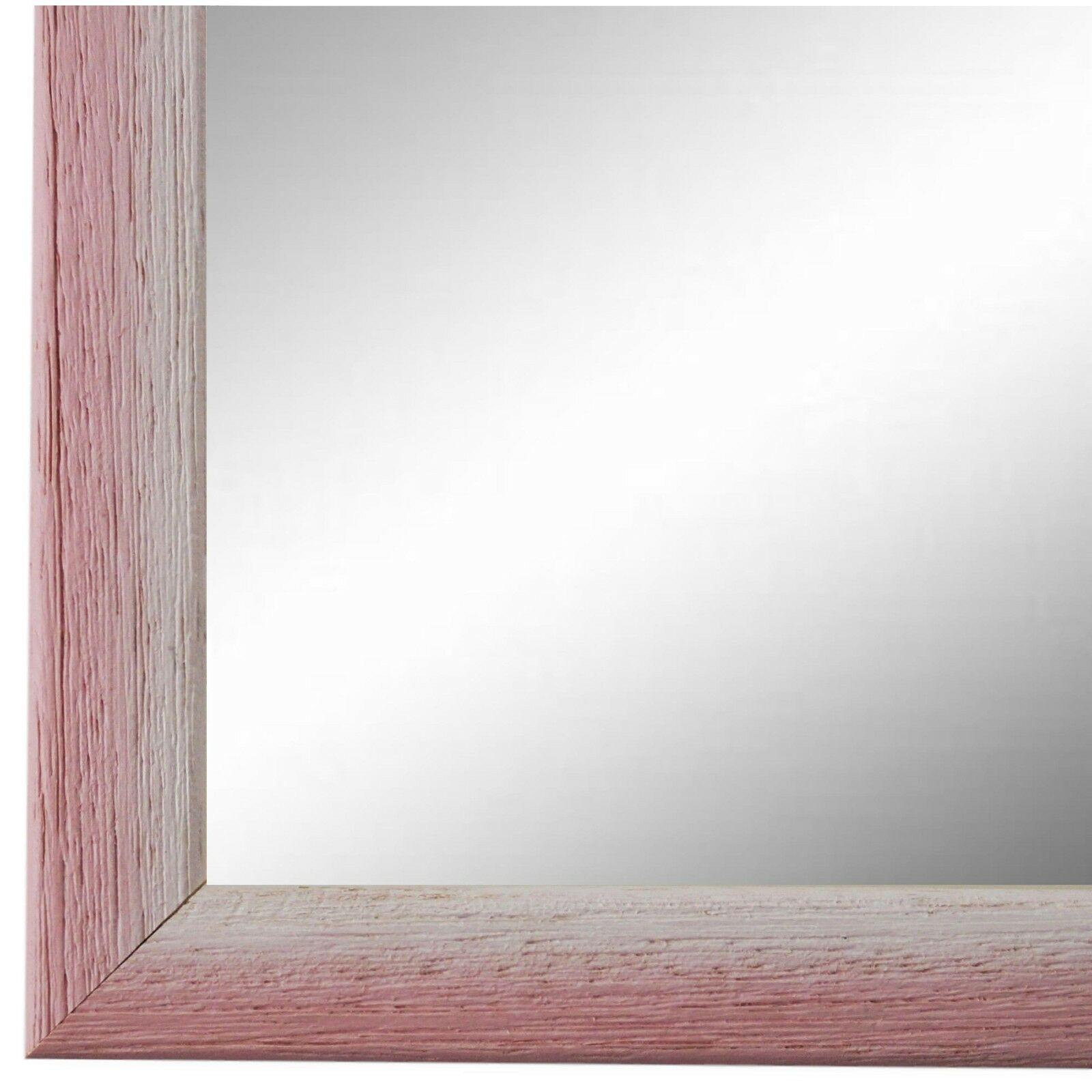Wandspiegel Spiegel Rosa Weiss Retro Vintage Holz Pinerolo 2, 3 ...