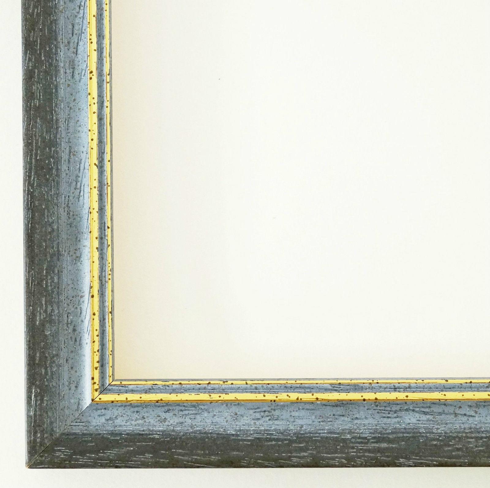 Bilderrahmen Blau Gold Antik Barock Rahmen Holz Klassisch ...