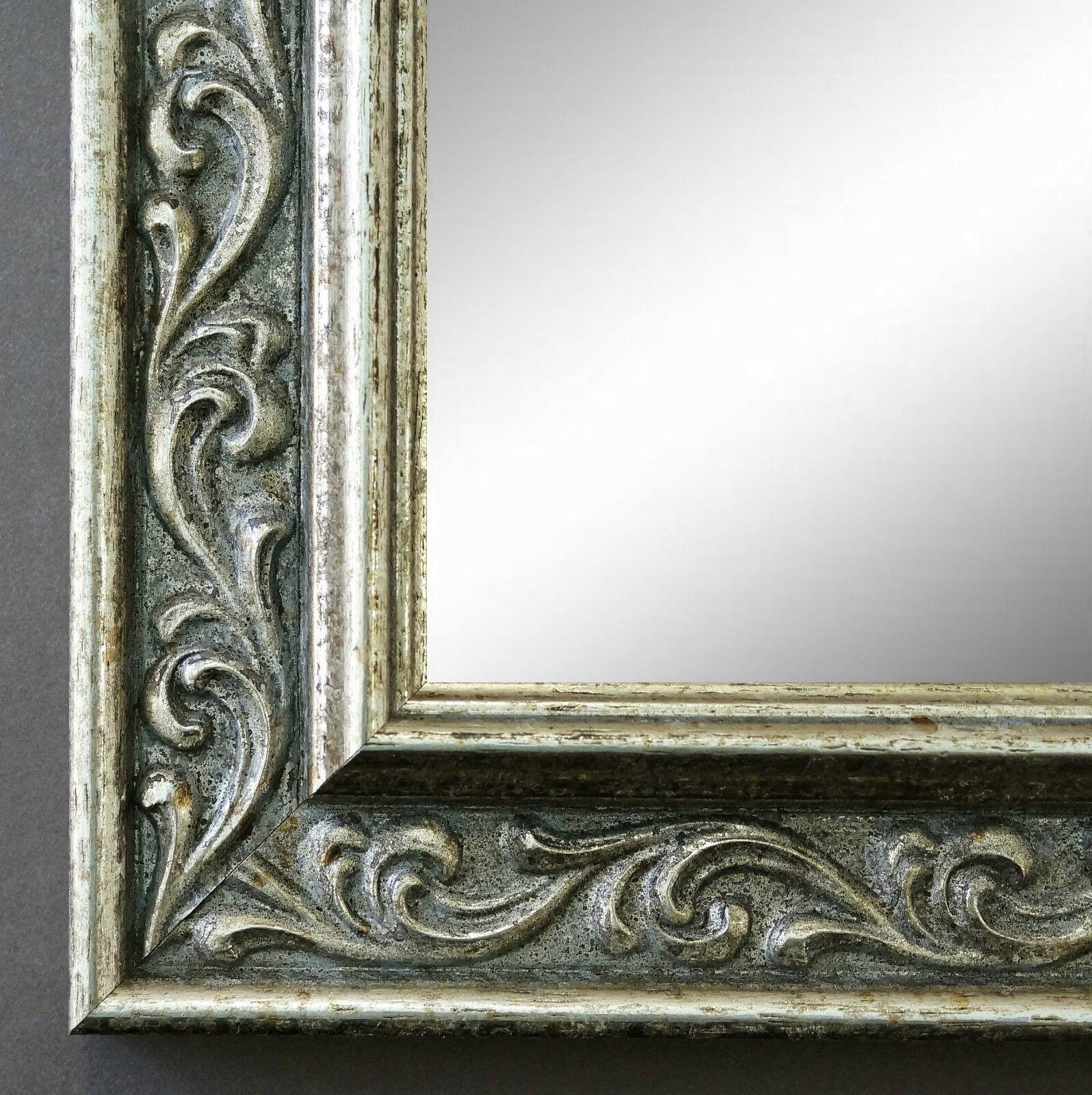 wandspiegel silber antik barock spiegel badspiegel flur. Black Bedroom Furniture Sets. Home Design Ideas