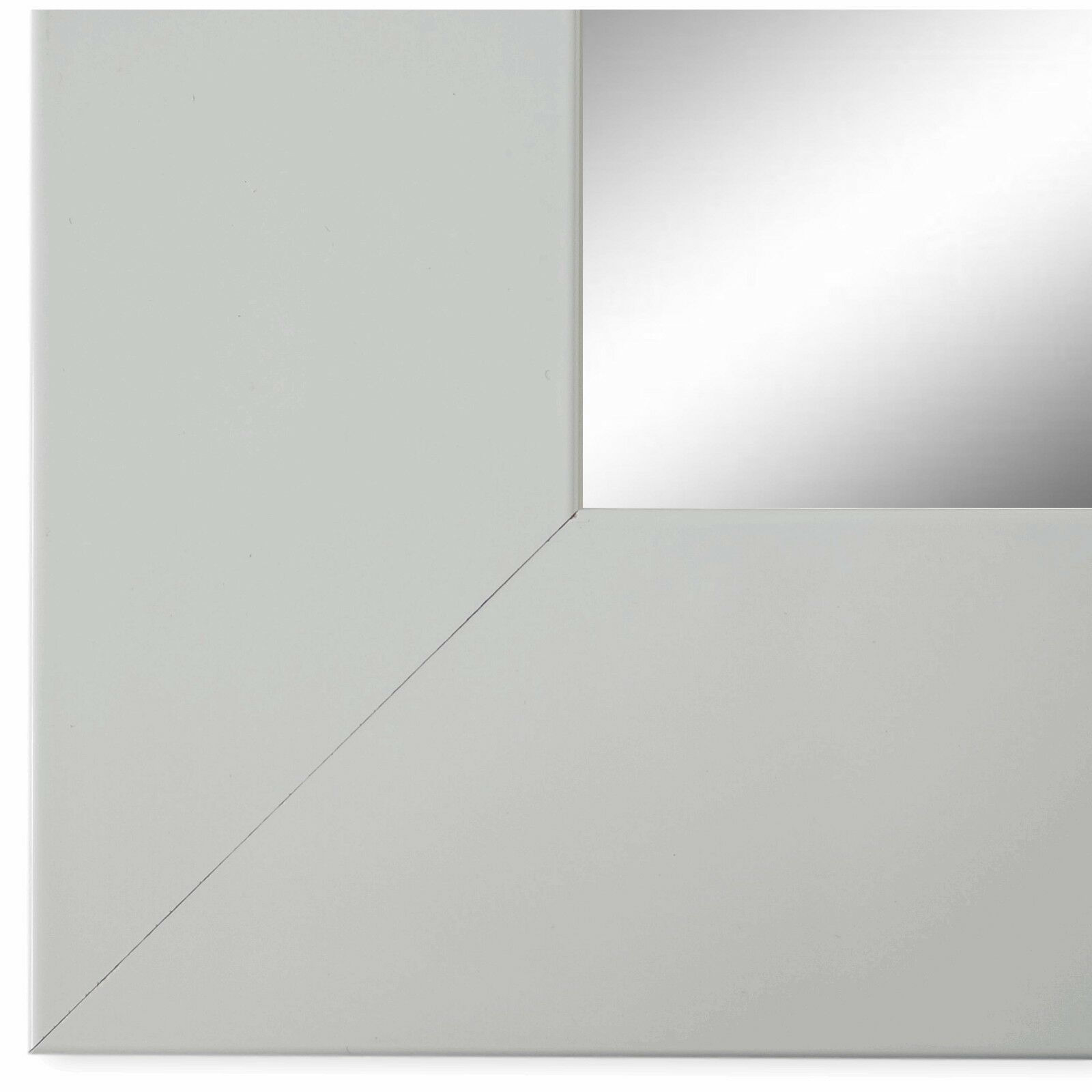 Wandspiegel Spiegel matt Weiss Vintage Retro Holz Novara 7, 0 - NEU alle  Größen