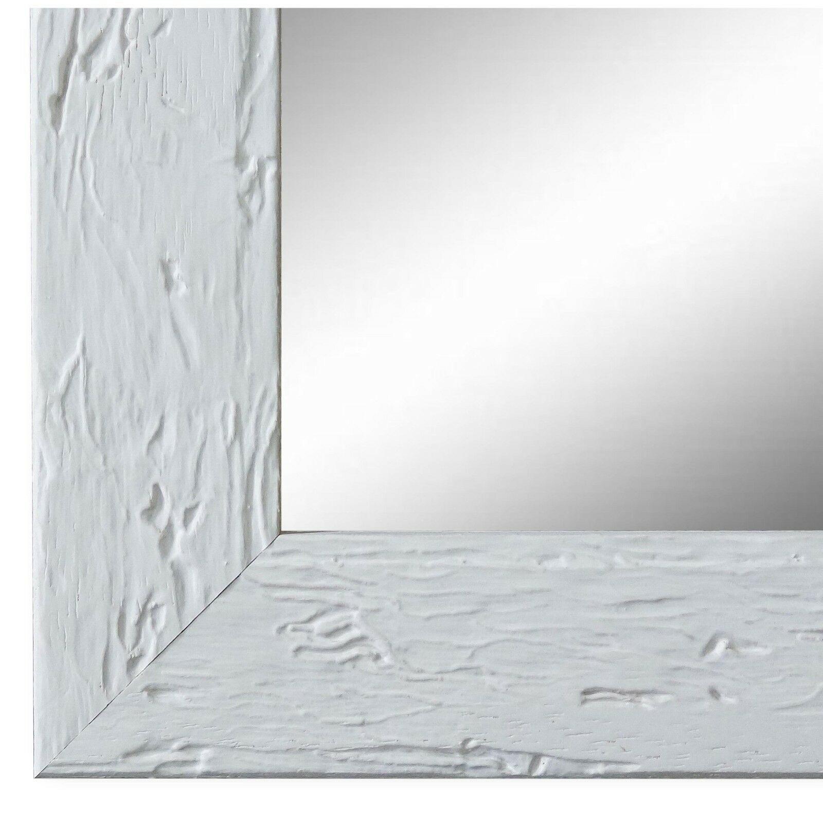 Wandspiegel Spiegel Weiss Retro Vintage Holz Parma 3, 9 - NEU alle Größen
