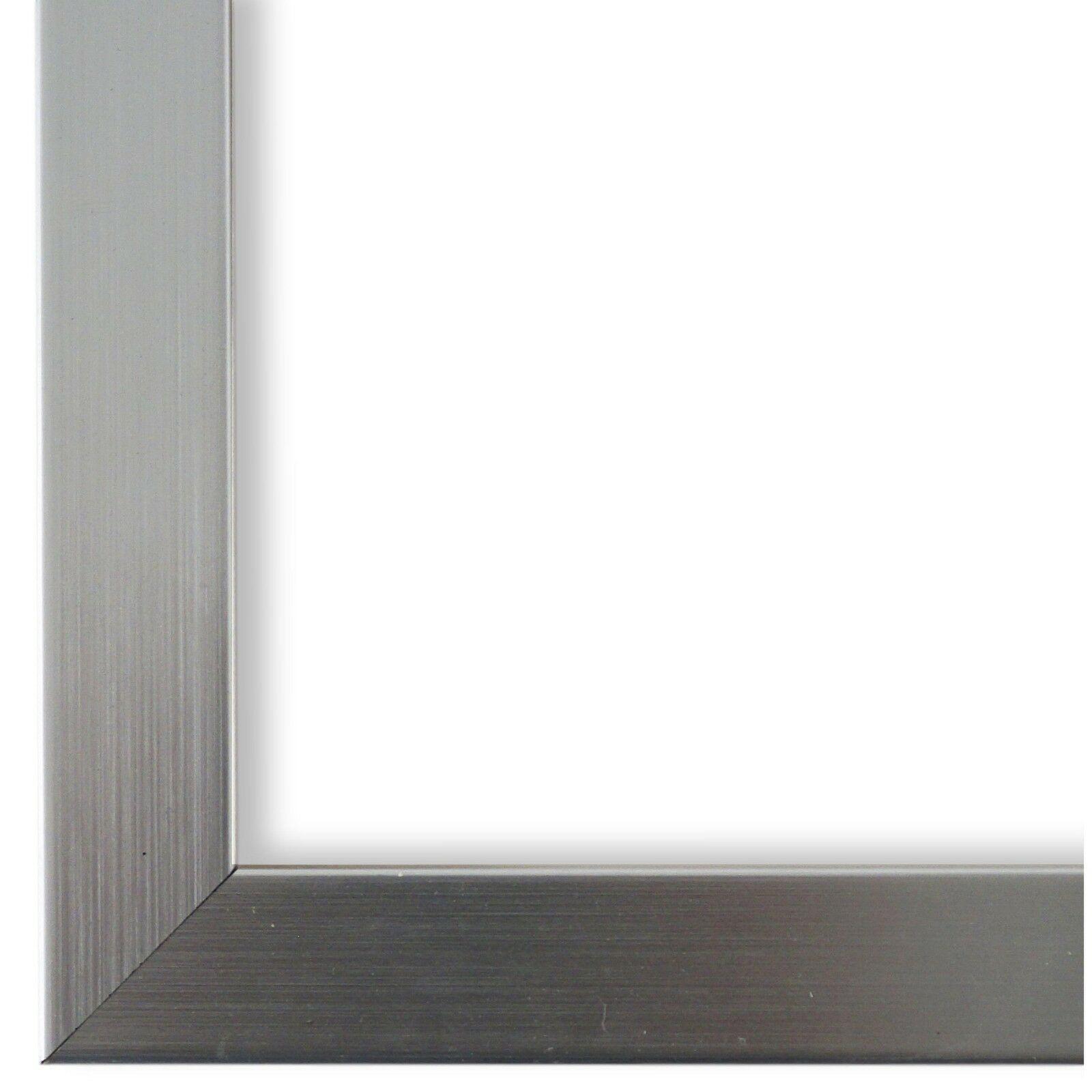 DIN A2 Bilderrahmen Silber Holz Lecce 3,9 DIN A3 DIN A4 DIN A5