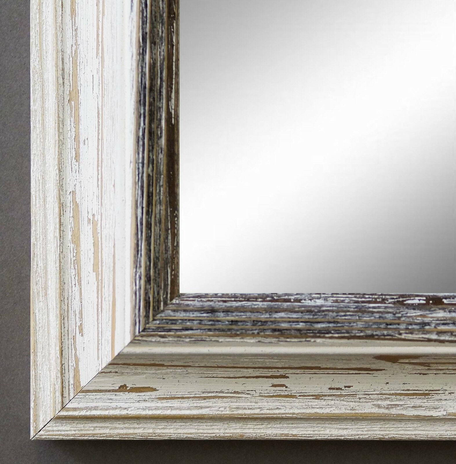 Spiegel Wandspiegel Bad Flur Garderobe Shabby Landhaus Bari Beige