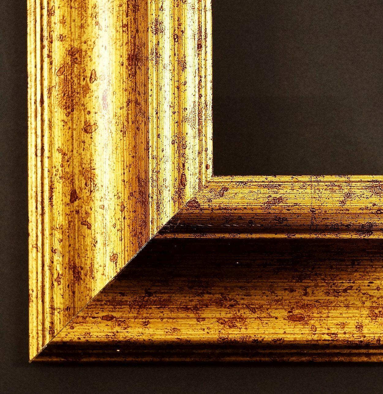 Bilderrahmen Acta in Gold gemasert Barock Rahmen Vintage 67,5 alle Größen