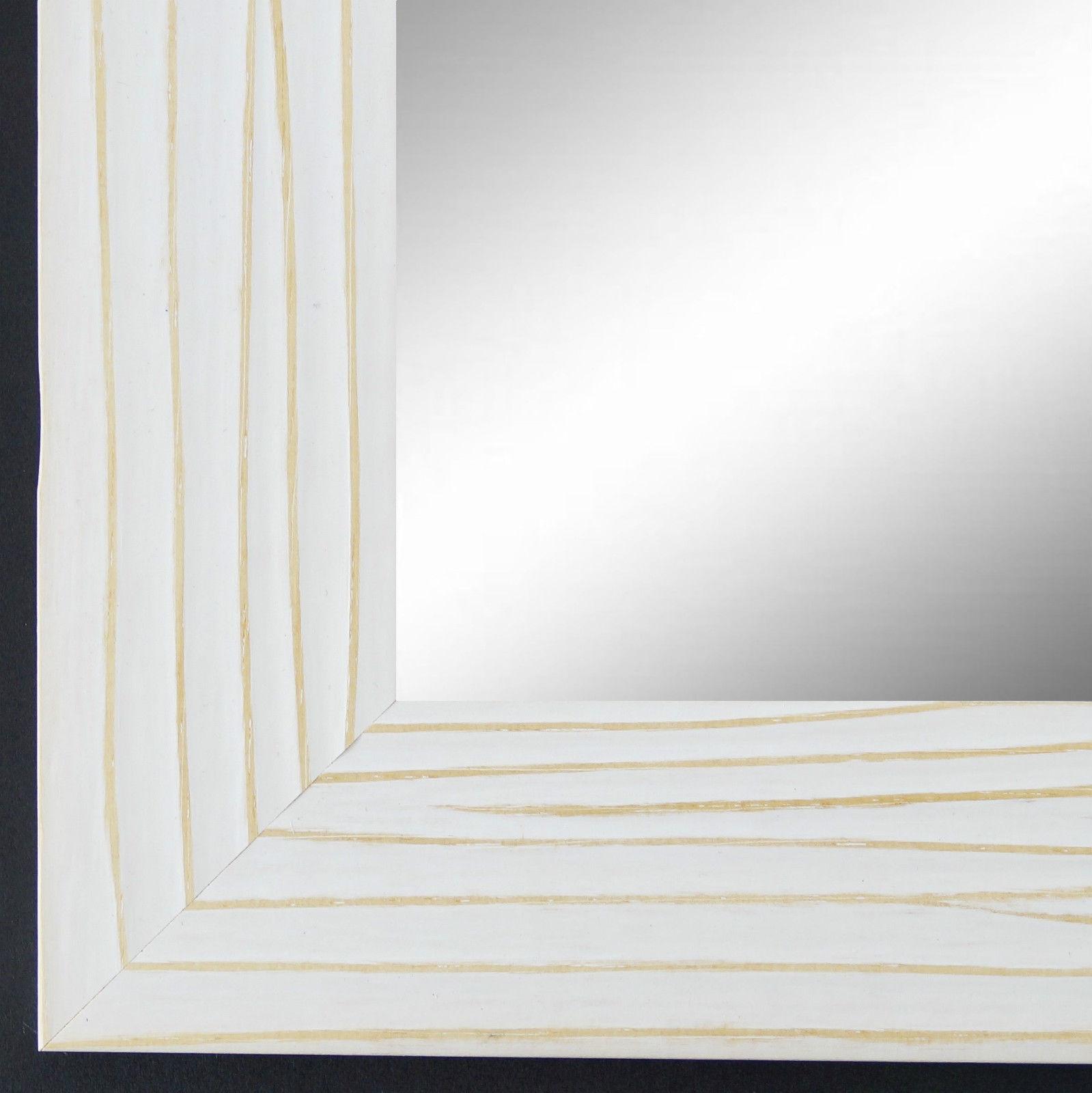 Spiegel Wandspiegel Badspiegel FLur Modern Shabby Landhaus Köln Weiss 4, 5