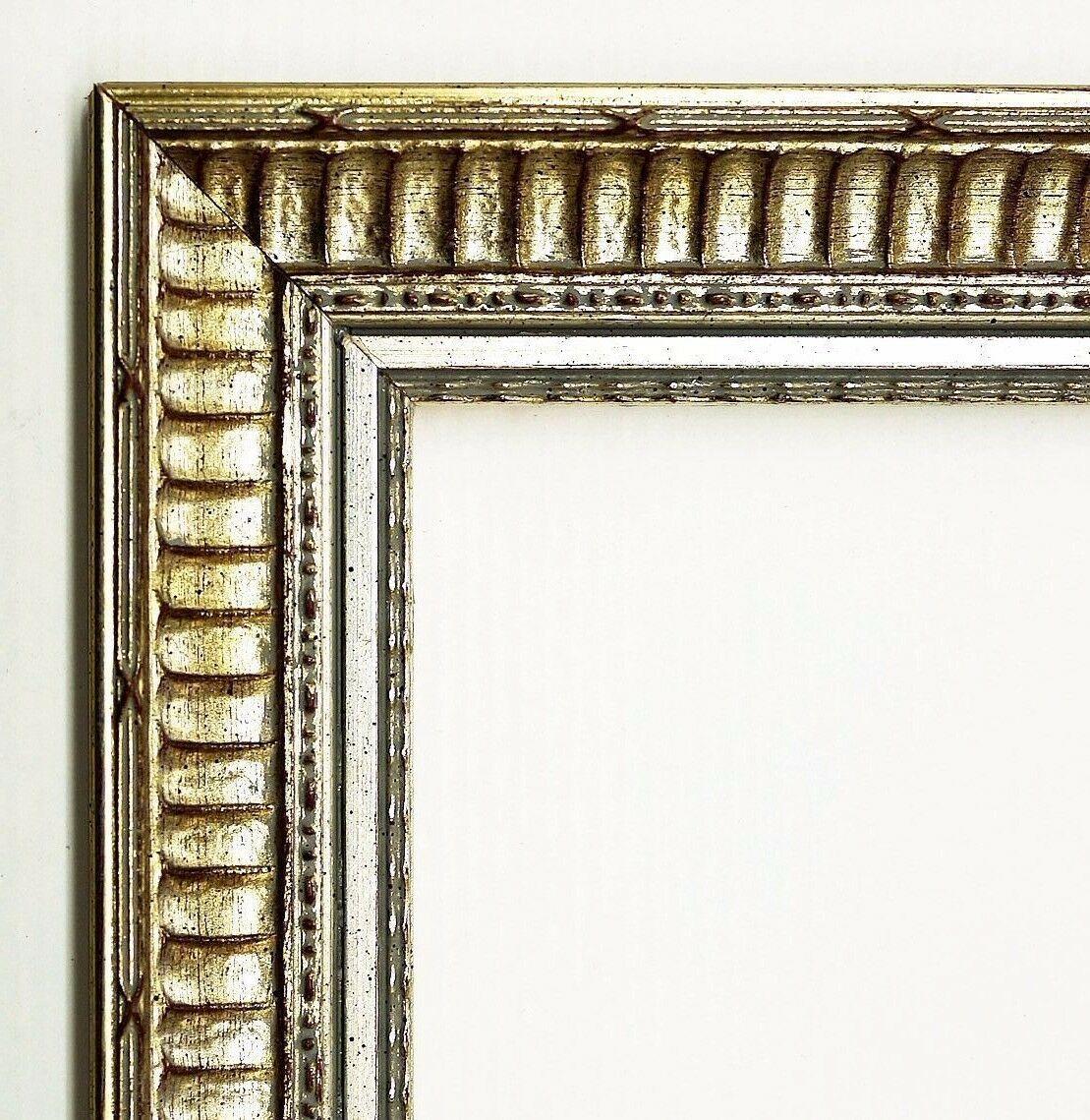 bilderrahmen silber barock rahmen holz antik clever line 1 3, 8