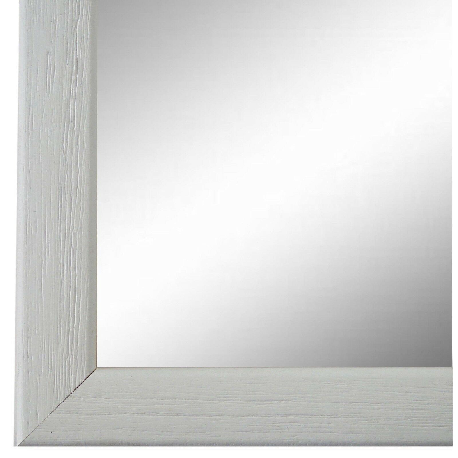 Wandspiegel Spiegel Weiss Retro Vintage Holz Pinerolo 2, 3 - NEU alle Größen