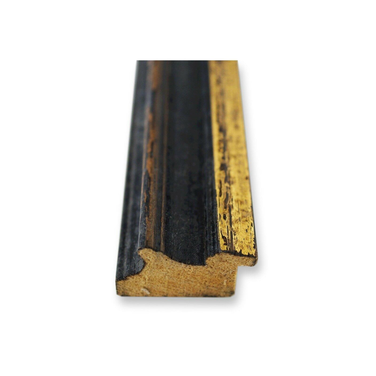 Wandspiegel Spiegel Schwarz Vintage Retro Holz Forli 3,7 NEU alle Größen