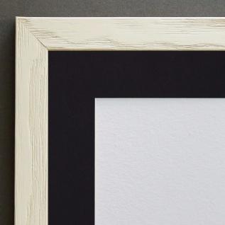 Bilderrahmen Siena in Beige Modern mit Passepartout in Schwarz 2, 0 - alle Größen