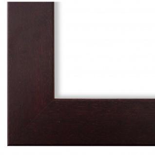 Bilderrahmen Braun Rot Holz Florenz 4, 0 - DIN A2 - DIN A3 - DIN A4 - DIN A5