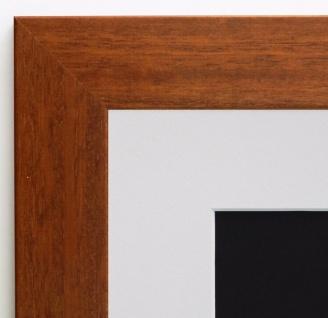 Bilderrahmen Florenz in Braun Modern mit Passepartout in Weiss 4, 0 - alle Größen