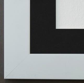 Bilderrahmen Florenz in Weiss mit Passepartout in Schwarz 4, 0 - NEU alle Größen