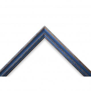 Bilderrahmen hell Blau Antik Shabby Holz Cosenza 2, 0 - 40x60 50x50 50x60 60x60 - Vorschau 3