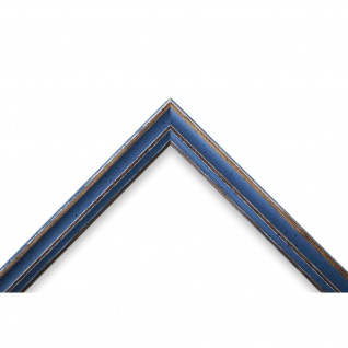 Bilderrahmen hell Blau Antik Shabby Holz Cosenza 2, 0 - NEU alle Größen - Vorschau 3