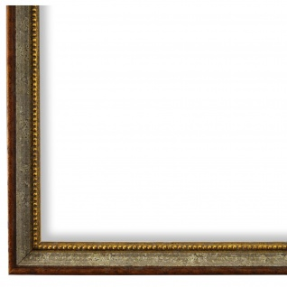 Bilderrahmen Grau Braun Gold Barok Rokoko Holz Empoli 1, 5 - NEU alle Größen