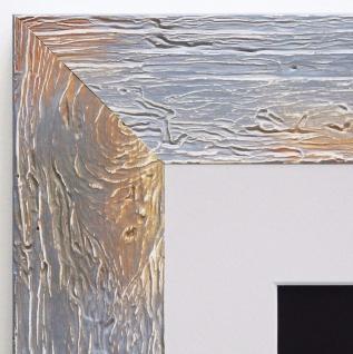Bilderrahmen Capri in Grau Rustikal mit Passepartout in Weiss 5, 8 - alle Größen