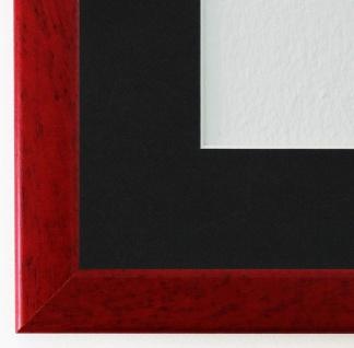 Bilderrahmen Hannover in Rot mit Passepartout in Schwarz 2, 4 Top Qualität